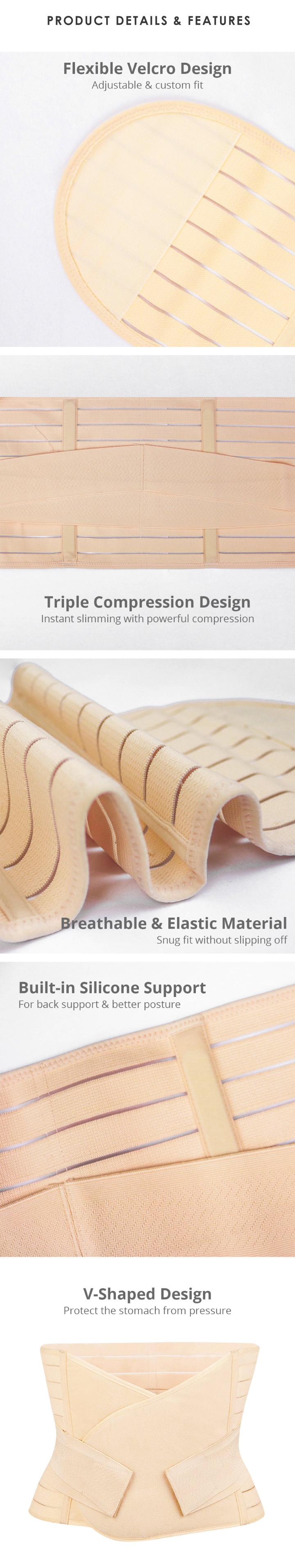 Shapee Shapewear Wrap Plus Belly Free Size Beige