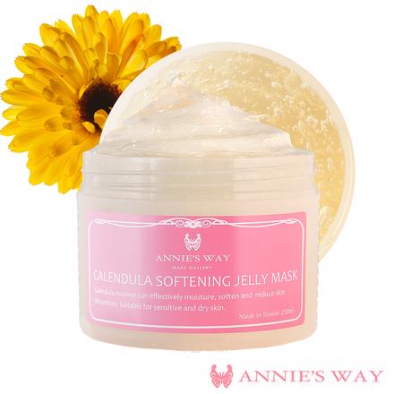 [23% OFF] Annie's Way Calendula + Chamomile Softening Jelly Mask 250ml-Free 1pc AW Bubble Tea Mask_1